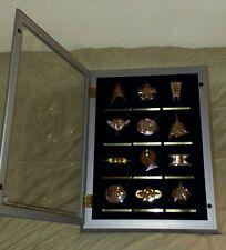 Star Trek 12 Silver & Gold Insignia Set w/Case by The Franklin Mint