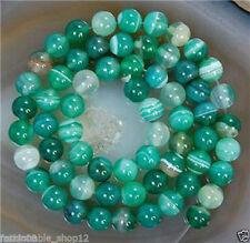 "6mm Natural Green Emerald Aventurine Round Jade Gemstones Loose Bead 15"""