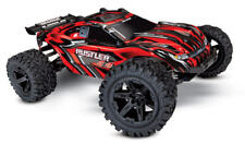 Traxxas Rustler 4X4 Truck Brushed Red RTR/Ready To Run w/Battery 67064-1