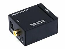 Monoprice Digital Coax & Optical Toslink to R/L Stereo Audio Converter + Cables