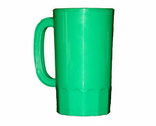 8  Large 32 oz Green Plastic Beer Mugs Made America Dishwasher Safe Top Shelf