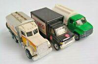 Utility Texaco Shell Vehicles Lot of 3 Vintage Various Matchbox Mattel