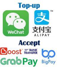 人民币<>马币 支付宝 Topup Alipay Wechat 代付 微信红包 1688 Taobao