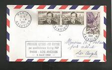 FIRST FLIGHT PREMIERE LIASON AIR FRANCE PARIS LOS ANGELES APR 5,1960