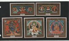 BHUTAN 1969 CPL.SET BUDDHA ON SILK MINT NEVER HINGED MNH NICE!!