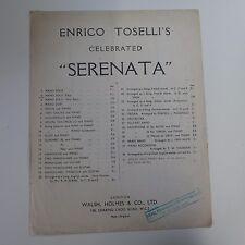 ASSOLO di pianoforte SERENATA Enrico Pedina, facile, 1916