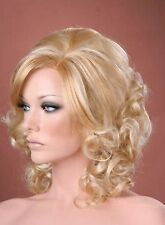 Ladies Wig Full Volume Soft Curls Two Tone Blonde Natural Realistic Fashion Wig