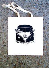HAND SCREEN PRINTED 'VW SPLIT SCREEN CAMPER' TOTE SHOPPING BAG