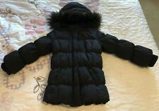 babyGap girls black puffer jacket with faux fur 5 years black Adorable!