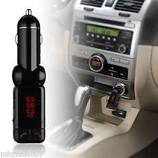5 V USB Auto Accendisigari Caricatore-FM digitale Bluetooth Vivavoce MP3 2X output