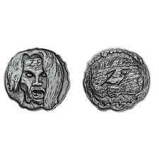 "Norse Foundry RPG D20 Adventure Coins ""25"" Silver Piece Set of 10 - Zombie Dead"