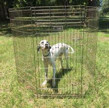 Midwest Folding Metal Dog Exercise Pen Fence 8 Panels Door Indoor Outdoor 548-48
