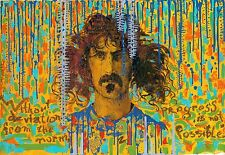 Frank Zappa singer songwriter oil on canvas from artist art Image picture