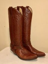"Men's Sendra Alcala High Heel 18"" Tall Cowboy Harness Boots Size 9.5 /10 US"