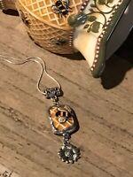 Recycled Broken Porcelain Jewelry, Bee Pendant