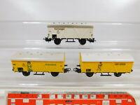 CD167-0,5# 3x Märklin H0/AC 307 Güterwagen DB: Bananenwagen Jamaica + Kühlwagen
