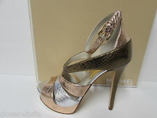 Michael Kors Size 7 M Rose Gold & Silver Heels New Womens Shoes