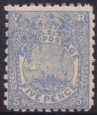 FIJI 1891 CANOE 5D MNH ** PERF 11 X 10