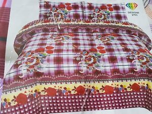 Bed Sheet with 2 pillow covers Set Top Quality King Size # 2763 (Free post in UK