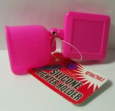 RETRACTABLE silicone lighter holder (PINK)