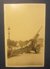 Old c.1918 WWI -  Cannon -  PARIS France RPPC PHOTO Postcard