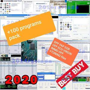 SOFTWARE KIT 100 Programs Remove DPF FAP EGR OFF ECU VIRGIN IMMO OFF OBD2