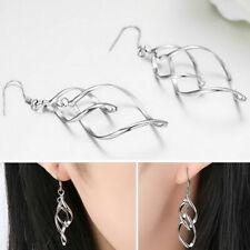 925 Sterling Silver Hook Earrings Women's Hot Fashion Jewelry Long Drop Dangle