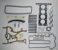 HEAD GASKET SET BOLTS TIMING CHAIN KIT AGILA CORSA C BARINA 1.2 16V Z12XE 01-04