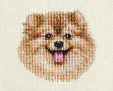POMERANIAN dog, puppy ~ Full counted cross stitch kit, all materials included