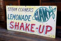 Vintage Lemonade Shake Up Wooden Sign Street Fair Circus Candy General Store Etc