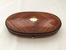 Beautiful Antique Victorian Wooden Sewing Etui Case. Velvet Interior.