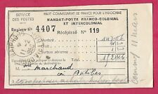 Indochine-Mandat poste Franco colonial-Haiphong Nord Viet Nam