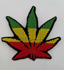 RASTA Cannabis Hash Embroidered Iron on or Sew On Patch Patches
