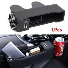 1PC Black Universal Car Seat Gap Storage Box Passenger Right Side Seat Catcher