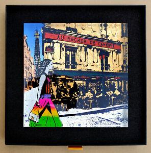 "Sandra Rauch (1967 Berlin, lebt in Berlin)   Acrylblock ""Paris – Am Eiffelturm"""