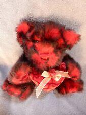 "Dan Dee  Plush Red Sweetheart Teddy Bear 9""  W/Heart & Rose Great Condition EUC"