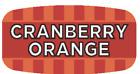 "Cranberry Orange Labels 1000 per Roll Food Store Flavor Stickers .625"" X 1.25"""