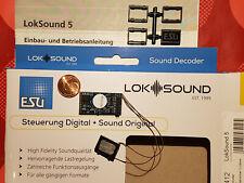 ESU 58412 H0 LokSound5 Decoder DCC/MOT/mfx PluX22 + Lautspr.+ Sound