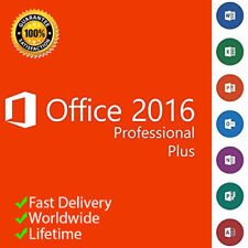 MICROSOFT OFFICE 2016 PROFESSIONAL PRO 32/64 BIT ORIGINALE KEY