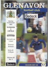 2001/02 Glenavon v Linfield - Irish League - 1st Dec - Vol 20 No 9