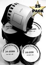 25 Rolls Labels123 Brand Fits Brother Dk 2205 P Touch Ql700 Ql500 Cartridge