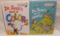 2 Dr. Seuss Children's Books - Book Of Animals & Book Of Colors - Beginners Book