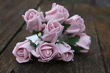 8 x DUSKY VINTAGE PINK  COLOURFAST FOAM ROSE BUDS 2.5cm WEDDING FLOWERS