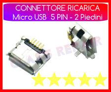 x4 PEZZI CONNETTORE RICARICA Micro USB 5 PIN 2 Piedini CARICA TABLET SMARTPHONE
