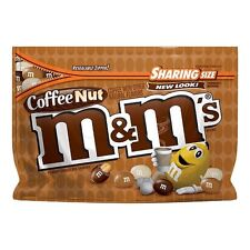NEW COFFEE NUT M&M'S PEANUT CHOCOLATE CANDIES SHARING SIZE 9.60 OZ BAG MARS