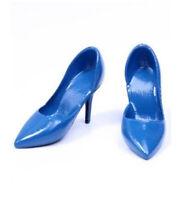 1:6 Blue Plastic High Heels Shoes Model Fit 12'' PH HT Female Action Figure Body