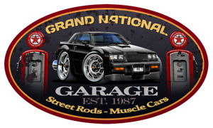 Buick Grand National Regal Turbo Garage Sign Wall Art Graphic Sticker