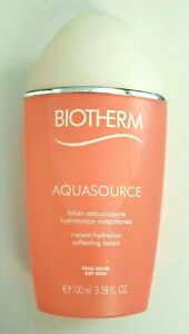 Biotherm Aquasource Instant Hydration Softening Lotion For Dry Skin 100ml 3.38oz