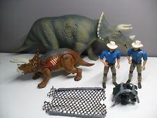 JURASSIC PARK Lot Triceratops complete JP08 Dinosaur + JP III + Dr. Alan Grant