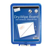 A4 Magnetic Dry Wipe White Note Board Kitchen Fridge Memo + Pen Various Colours